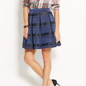 Vineyard Vines Black Blue Pleated Skirt Size 8